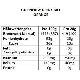 GU Energy Drink Mix 840g, Orange